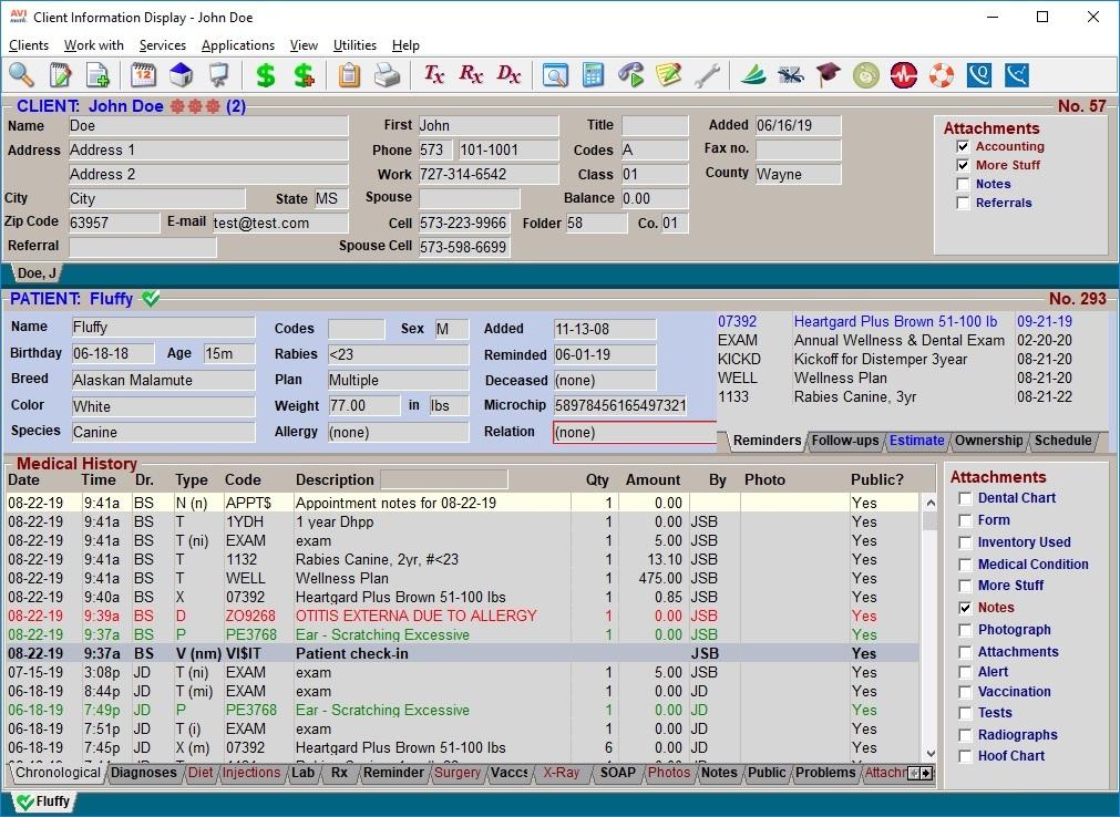 Avimark interface